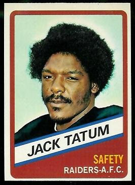 Jack Tatum 1976 Wonder Bread football card