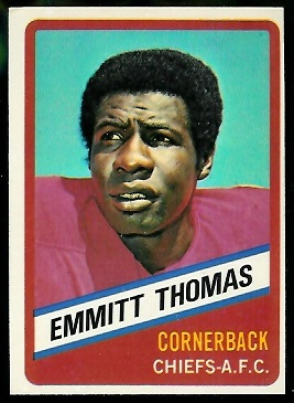 Emmitt Thomas 1976 Wonder Bread football card