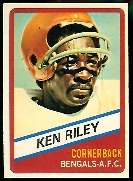 Ken Riley 1976 Wonder Bread football card
