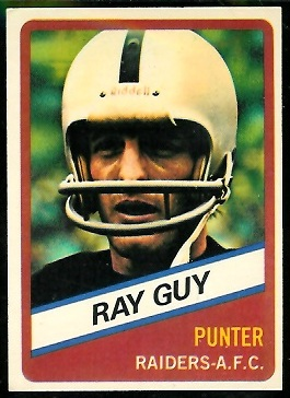 Ray Guy 1976 Wonder Bread football card