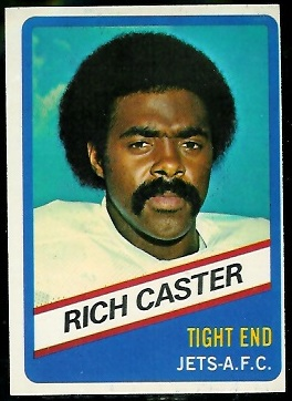 Richard Caster 1976 Wonder Bread football card