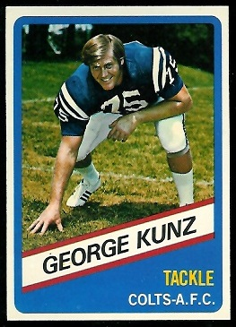 George Kunz 1976 Wonder Bread football card