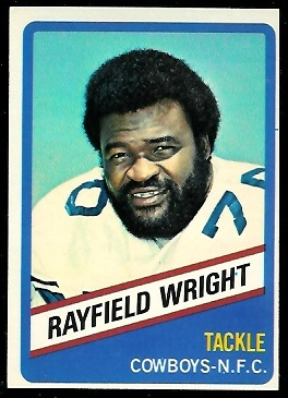 Rayfield Wright 1976 Wonder Bread football card