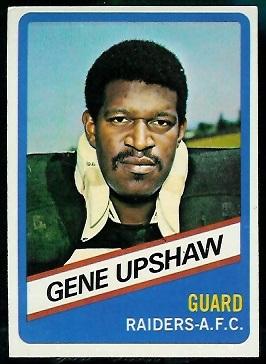 Gene Upshaw 1976 Wonder Bread football card