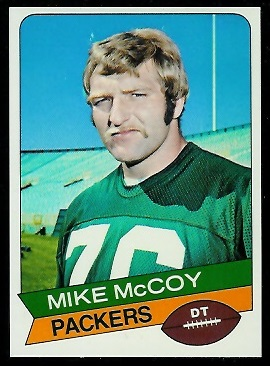 Mike McCoy 1977 Holsum Bread football card