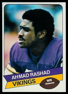Ahmad Rashad 1977 Holsum Bread football card
