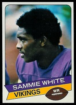 Sammy White 1977 Holsum Bread football card