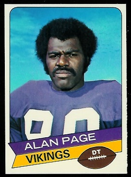 Alan Page 1977 Holsum Bread football card