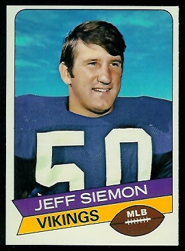 Jeff Siemon 1977 Holsum Bread football card