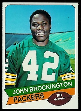 John Brockington 1977 Holsum Bread football card