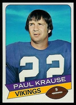 Paul Krause 1977 Holsum Bread football card