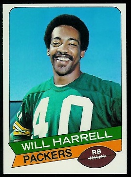 Will Harrell 1977 Holsum Bread football card