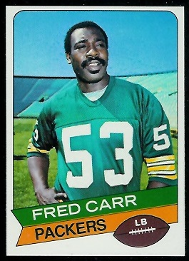 Fred Carr 1977 Holsum Bread football card