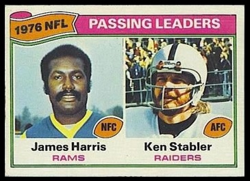 Passing Leaders 1977 Topps football card