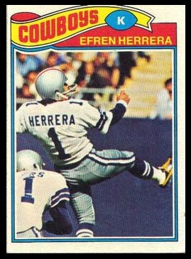 Efren Herrera 1977 Topps football card