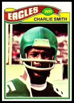 Charlie Smith 1977 Topps football card