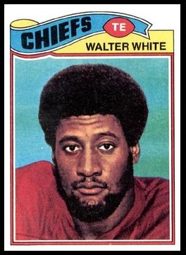 Walter White 1977 Topps football card