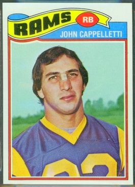 John Cappelletti 1977 Topps football card
