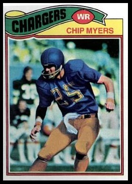 Chip Myers 1977 Topps football card