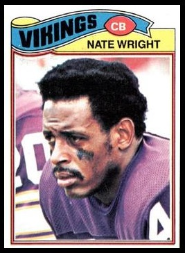 Nate Wright 1977 Topps football card