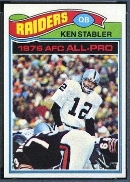 Ken Stabler 1977 Topps football card