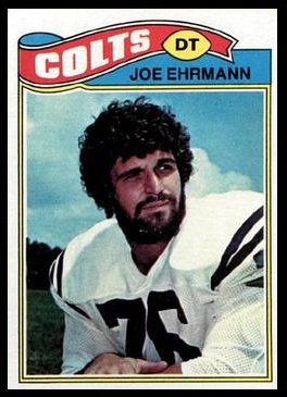 Joe Ehrmann 1977 Topps football card
