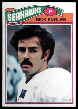 Rick Engles 1977 Topps football card