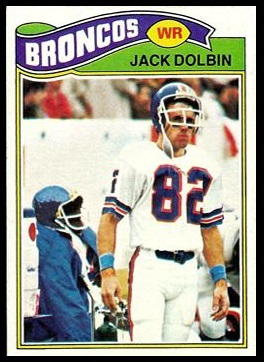 Jack Dolbin 1977 Topps football card