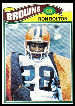 Ron Bolton 1977 Topps football card