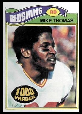 Mike Thomas 1977 Topps football card
