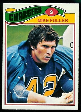 Mike Fuller 1977 Topps football card