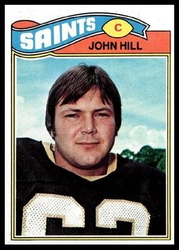 John Hill 1977 Topps football card
