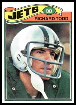 Richard Todd 1977 Topps football card
