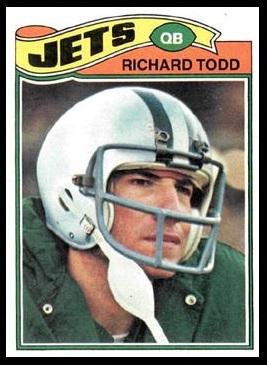 Richard Todd 1977 Topps football card