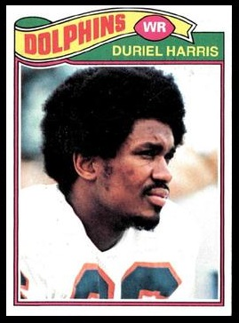 Duriel Harris 1977 Topps football card