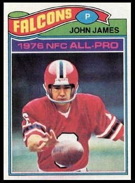 John James 1977 Topps football card