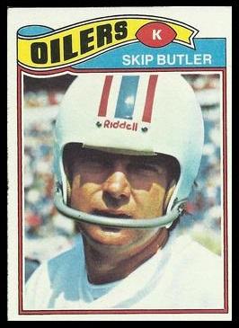 Skip Butler 1977 Topps football card