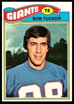 Bob Tucker 1977 Topps football card