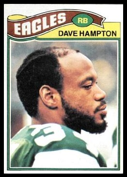 Dave Hampton 1977 Topps football card