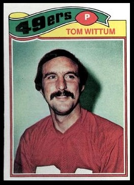 Tom Wittum 1977 Topps football card