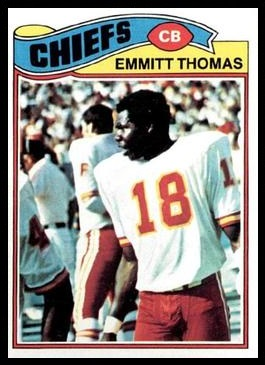 Emmitt Thomas 1977 Topps football card