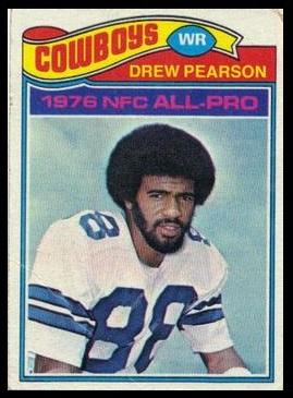 Drew Pearson 1977 Topps football card