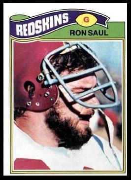 Ron Saul 1977 Topps football card