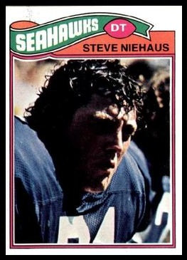 Steve Niehaus 1977 Topps football card