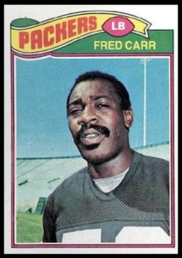 Fred Carr 1977 Topps football card