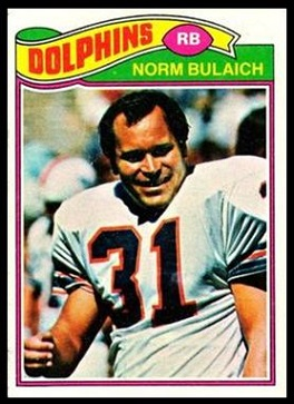Norm Bulaich 1977 Topps football card