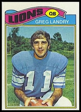 Greg Landry 1977 Topps football card
