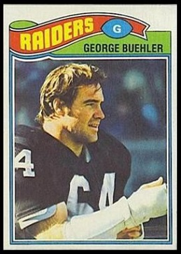 George Buehler 1977 Topps football card