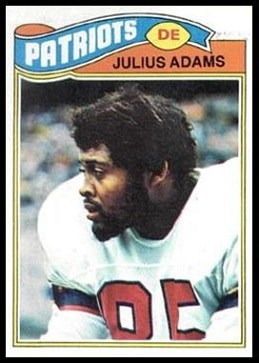 Julius Adams 1977 Topps football card