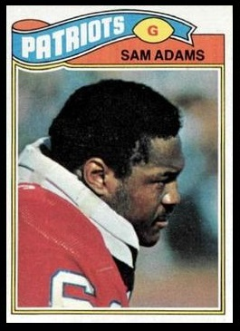 Sam Adams 1977 Topps football card